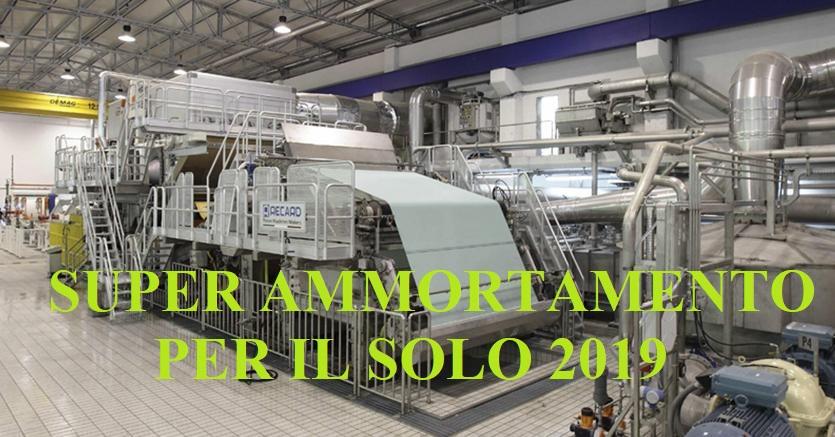 SUPER AMMORTAMENTO PER IL SOLO 2019