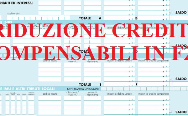 riduzione crediti compensabili in F24