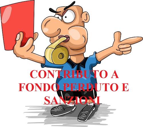 contributo a fondo perduto e sanzioni