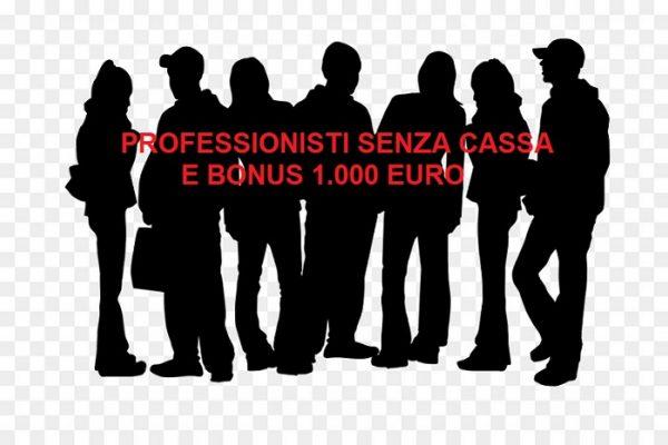 PROFESSIONISTI SENZA CASSA E BONUS